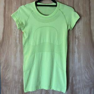 Neon Green Lululemon Short Sleeve Top